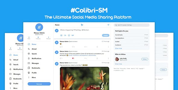 ColibriSM - The Ultimate PHP Modern Social Media Sharing Platform