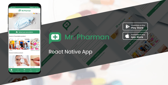 Mr.Pharman - React native e-medical shop complete solution - CodeCanyon Item for Sale