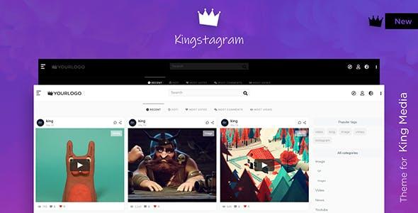 Kingstagram - King Media Viral Magazine Theme