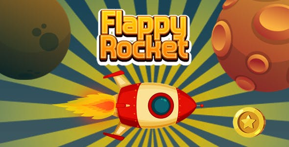Flappy Rocket with Collect Coins (CAPX and HTML5)