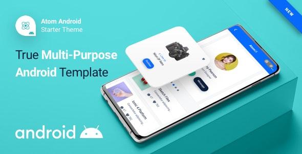 Atom Ui Kit - Android Kotlin Starter Mobile App Theme - CodeCanyon Item for Sale