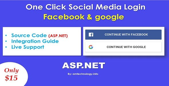 Facebook and Google login in asp.net