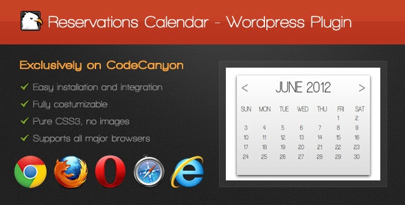 Reservations Calendar - CodeCanyon Item for Sale