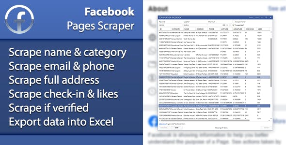 Facebook Pages Scraper