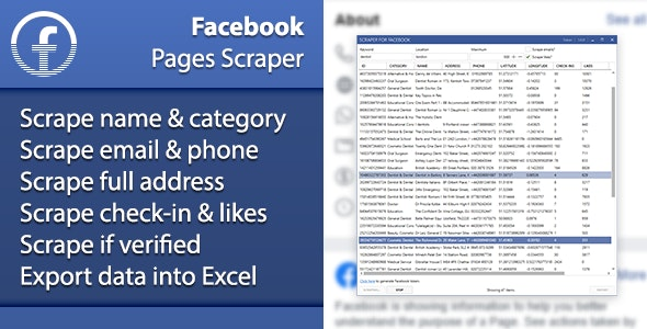 Facebook Pages Scraper - CodeCanyon Item for Sale