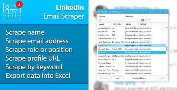 LinkedIn Emails Scraper