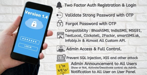 Two Factor Auth Registration and Login