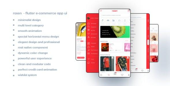 Rosen - Flutter Ecommerce UI