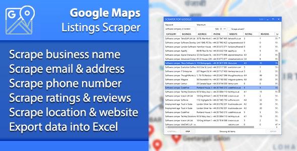 Google Maps Listings Scraper - CodeCanyon Item for Sale