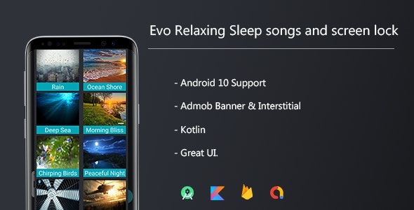 Evo Relaxing Sleep sounds and Screen lock - CodeCanyon Item for Sale