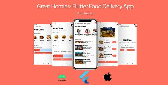 Food App: Flutter Food App UI + Database