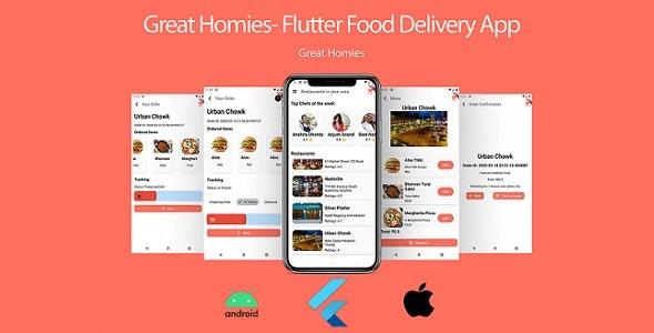 Food App: Flutter Food App UI + Database - CodeCanyon Item for Sale
