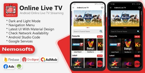 Android Online Live TV Streaming - CodeCanyon Item for Sale
