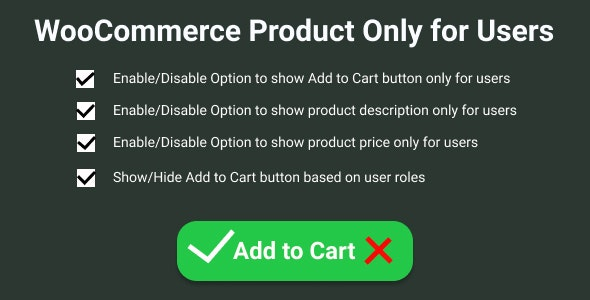 WooCommerce Product Only for Users - CodeCanyon Item for Sale