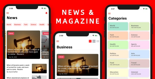 IonNews - News & Magazine App Mobile Template UI (Ionic5 & Capacitor) - CodeCanyon Item for Sale