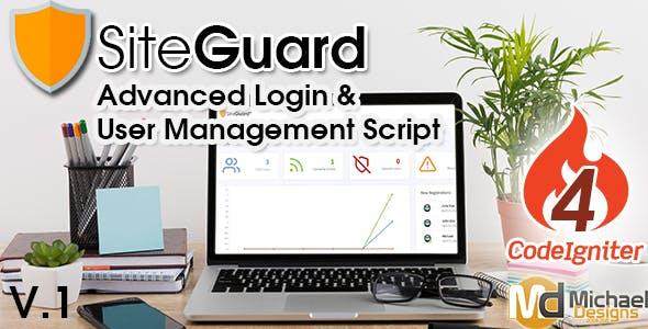 SiteGuard - CodeIgniter Advanced PHP Login & User Management Script