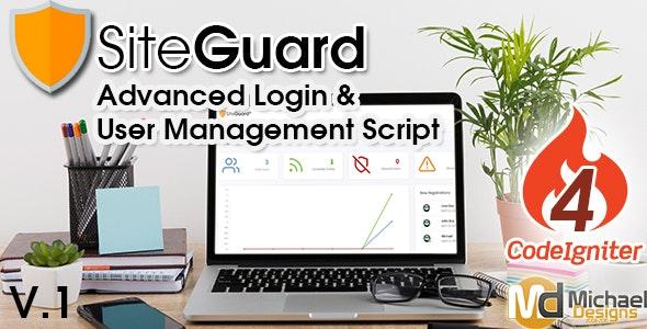 SiteGuard - CodeIgniter Advanced PHP Login & User Management Script - CodeCanyon Item for Sale