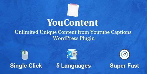 YouContent - Unlimited Unique Content Generator from Youtube Captions - CodeCanyon Item for Sale