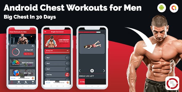 Chest Workout & Fitness For Men(30 days Workout Plan)