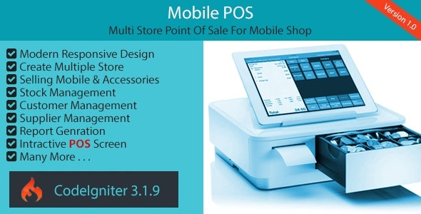 Mobile POS - Multi Store Point Of Sale for Mobile Shop - CodeCanyon Item for Sale