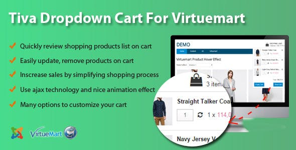 Tiva Dropdown Cart For Virtuemart