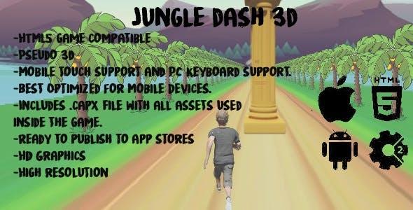 Jungle Dash 3D-Construct 2 (capx+html5)
