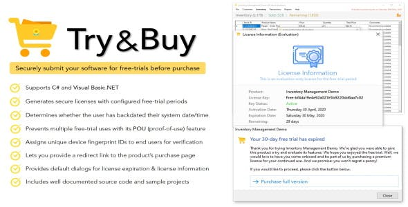 Try & Buy | Free Trial Maker For .NET Applications