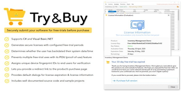 Try & Buy | Free Trial Maker For .NET Applications - CodeCanyon Item for Sale
