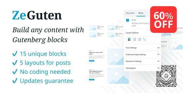 ZeGuten — Blocks for Gutenberg