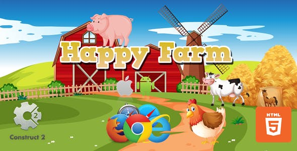 Happy Farm HTML5 game (.Capx)