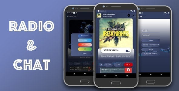 Radio & Chat single station (android) - CodeCanyon Item for Sale