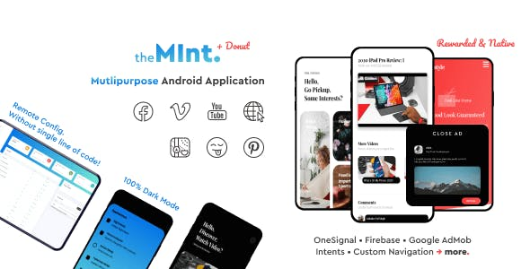Mint - Full WebView & Multipurpose Android App With Remote Config