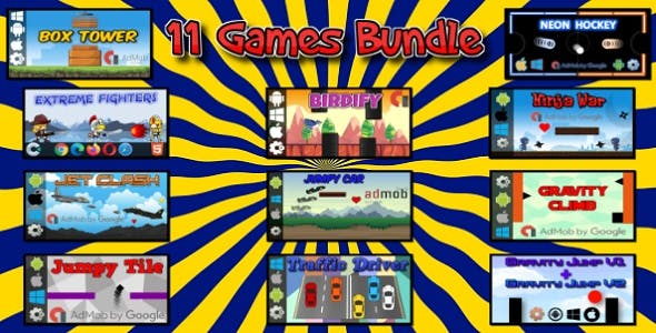 11 HTML5 Games Bundle (Construct 3 | Construct 2 | c3p | capx)