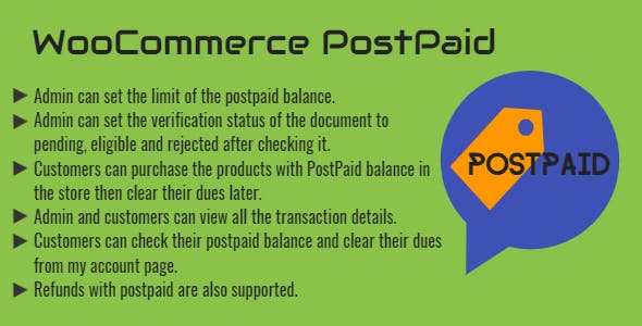 WooCommerce PostPaid - Buy Now Pay Later