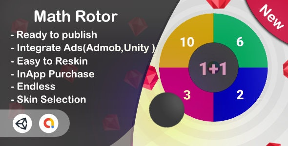 Math Rotor 3D - Educational Game (Unity Complete+Admob+iOS+Android) - CodeCanyon Item for Sale