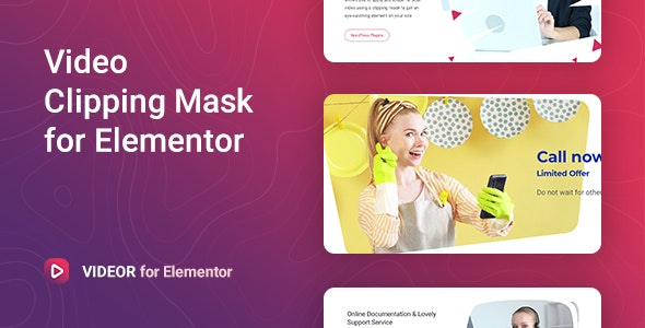 Videor – Video Clipping Mask for Elementor - CodeCanyon Item for Sale