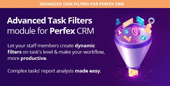 Advanced Task Filters module for Perfex CRM - CodeCanyon Item for Sale