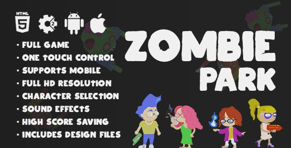 Zombie Park - HTML5 Endless Hypercasual Survival Game Construct 2
