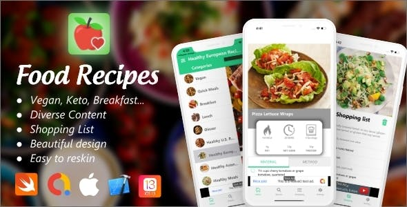 Food Recipes iOS 13+ with Admob