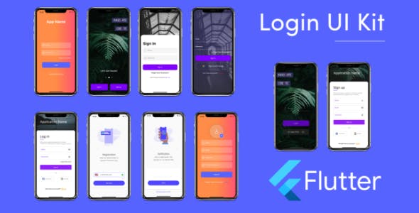 Flutter Login UI Kit Template in Flutter