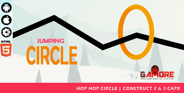 Jumping Circle - HTML5 Game - Construct2 & Construct 3 CAPX.-  Mobile Responsive
