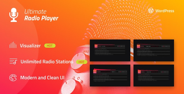 Ultimate Radio Player Wordpress Plugin - CodeCanyon Item for Sale