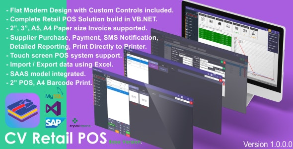 CV Retail POS Source Code | Complete POS Solution - CodeCanyon Item for Sale