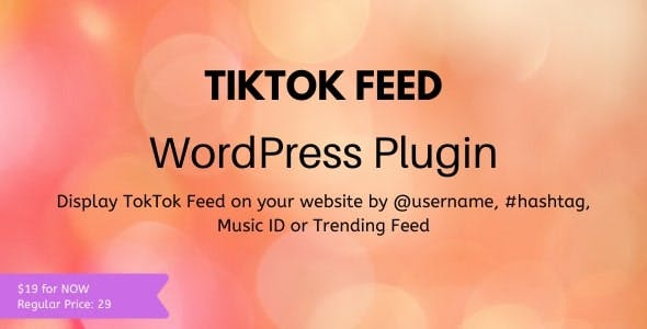 TikTok Feed - WordPress Plugin