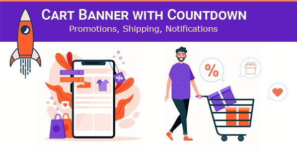 Cart Banner with Countdown for PrestaShop