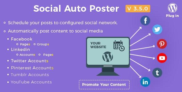 Social Auto Poster - WordPress Plugin - CodeCanyon Item for Sale