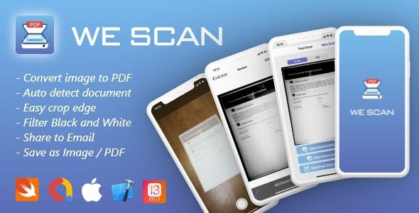 PDF Scanner app iOS 13+, Swift 5 - We Scan