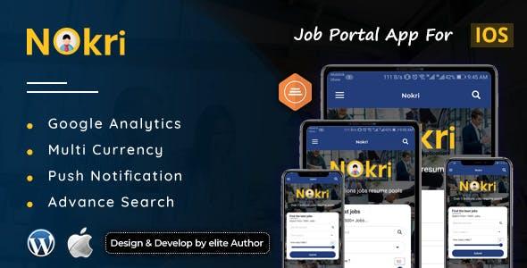 Nokri - Job Board Native IOS App