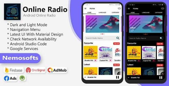 Android Online Radio - CodeCanyon Item for Sale