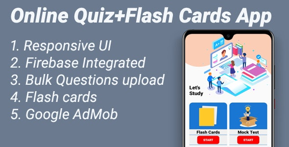 Online Quiz Flash Cards App By Ravindrasail Codecanyon